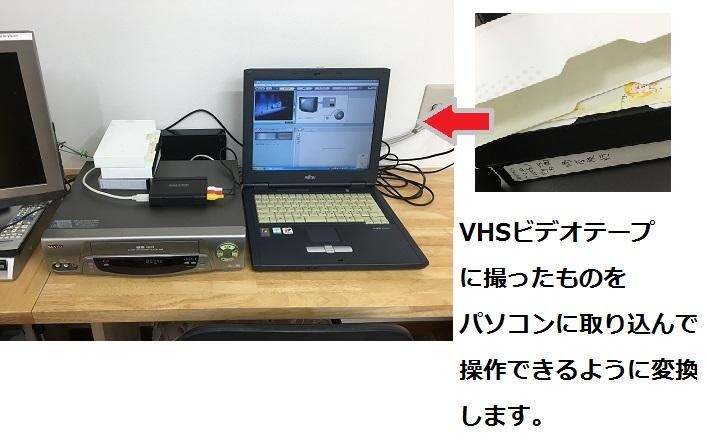 VHSのテープを変換
